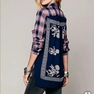 Free People | Behind the Flannel Mixed Long Sleeve